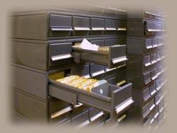 Шкаф-картотека каталога Сектора.